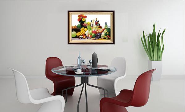 Treo một bức tranh hoa quả ngon ngọt, đầy màu sắc ở phòng bếp giúp đem lại sự thịnh vượng, sức khỏe cho cả nhà