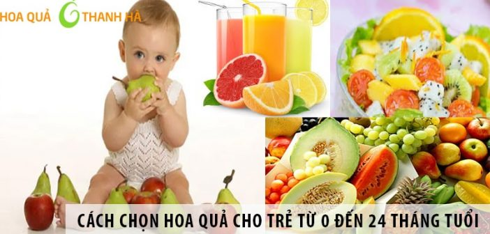 Cách chọn hoa quả cho trẻ từ 0 đến 24 tháng tuổi
