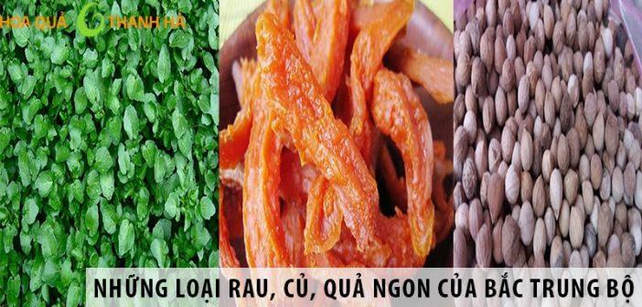 Những loại rau, củ, quả ngon của Bắc Trung Bộ
