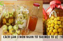Cách làm 3 món ngon từ táo mèo Tú Lệ - Yên Bái