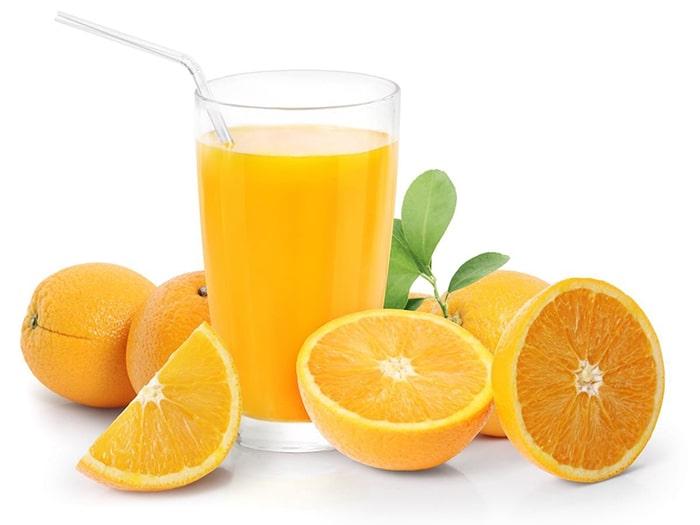 Nước cam giàu canxi và acid folic tốt cho bà bầu