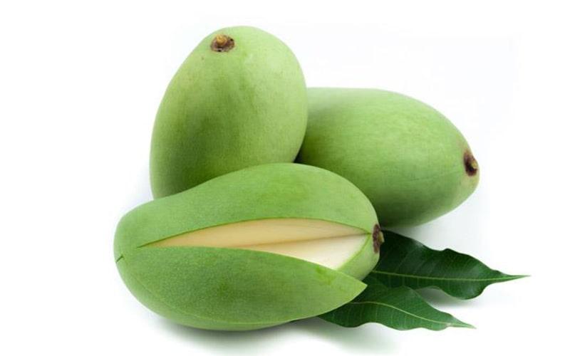 Xoài xanh có lượng chất xơ lớn có thể chữa táo bón