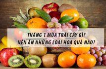 Tháng 1 mùa trái cây gì? Nên ăn những loại hoa quả nào?