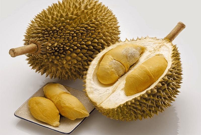 Trái Sầu riêng Ngũ Hiệp có màu vàng đậm, mùi thơm