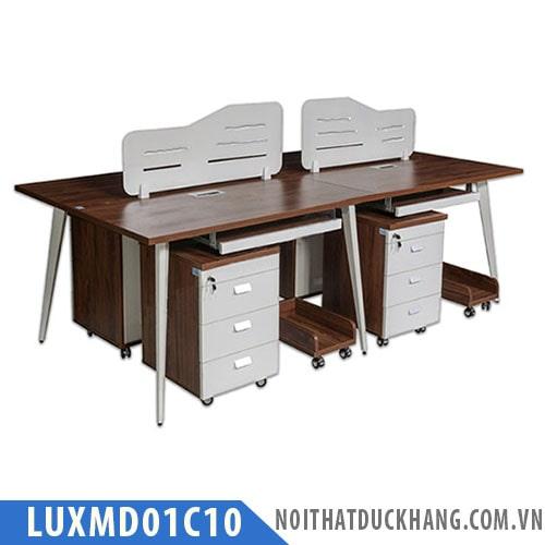 Cụm bàn làm việc 4 chỗ LUXMD01C10