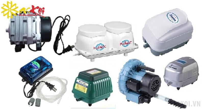 Các loại máy thổi khí cho hồ cá Koi
