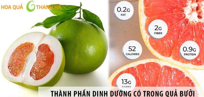 Những thành phần dinh dưỡng có trong quả bưởi