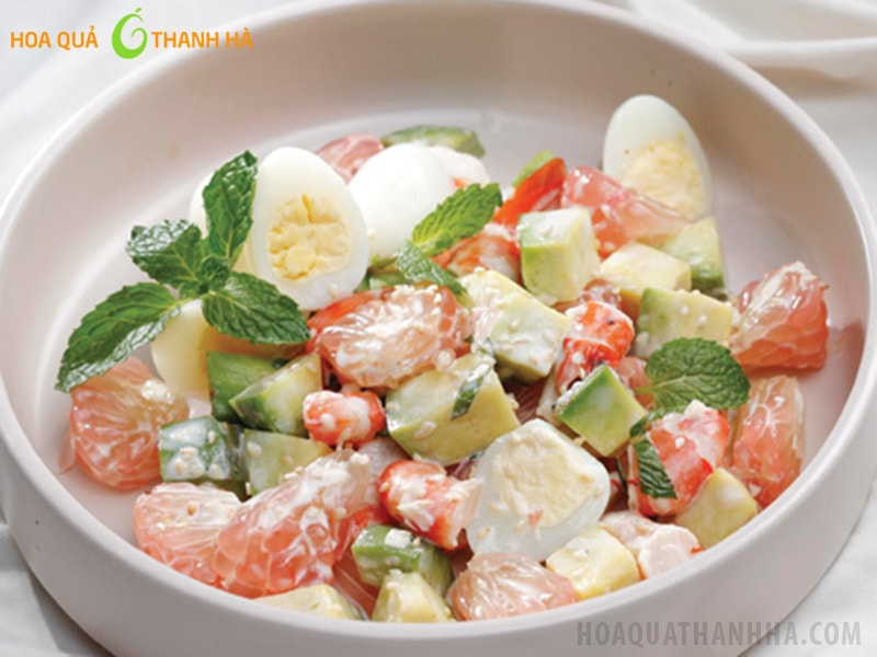Salad bưởi và quả bơ
