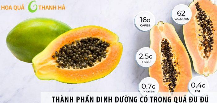 Những thành phần dinh dưỡng có trong quả đu đủ
