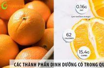 Các thành phần dinh dưỡng có trong quả cam