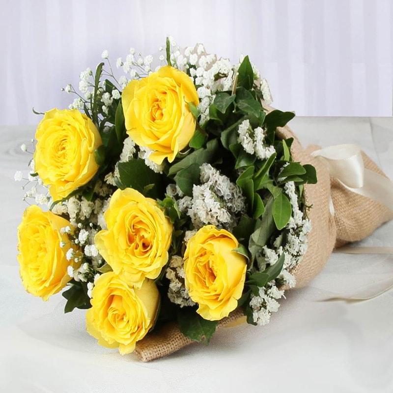 Hoa sinh nhật tặng chị em gái màu vàng