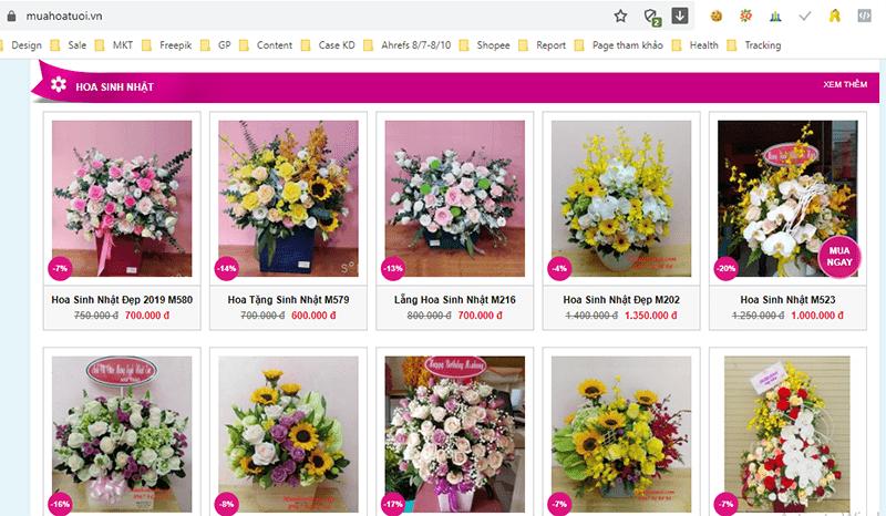 muahoatuoi.vn cung cấp những loại hoa ý nghĩa tặng sinh nhật chị gái