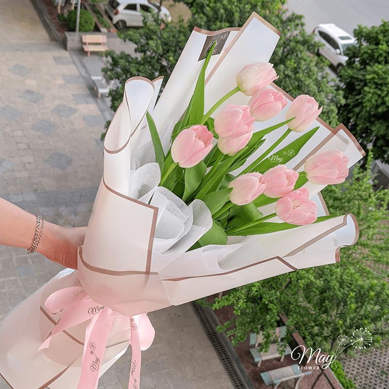 Hoa Tulip hồng thể hiện tình yêu nhẹ nhàng mà lãng mạn