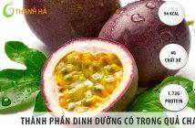 Những thành phần dinh dưỡng trong quả chanh leo