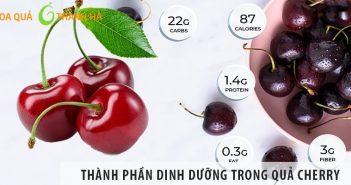 Những thành phần dinh dưỡng trong quả cherry (anh đào)