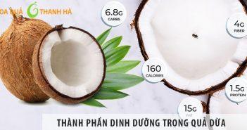 Những thành phần dinh dưỡng có trong quả dừa