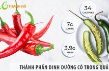 Những thành phần dinh dưỡng có trong quả ớt
