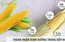 Những chất dinh dưỡng có trong bắp ngô