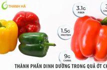 Những chất dinh dưỡng có trong ớt chuông