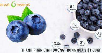 Những thành phần dinh dưỡng trong quả Việt Quất