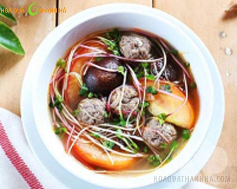 Canh chua thịt rau mầm