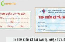 Địa chỉ in tem kiểm kê tài sản tại quận Từ Liêm